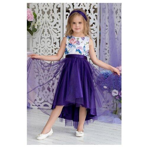 Купить Платье ALOLIKA размер 128-64-57, фиолетовый, Платья и сарафаны