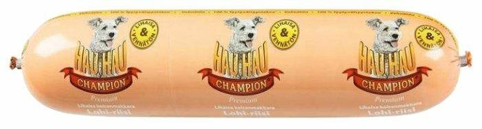 Корм для собак Hau-Hau Champion Колбаса с лососем и рисом (0.8 кг) 1 шт.