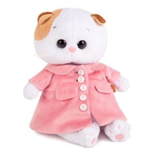 Купить Мягкая игрушка Basik&Co Кошка Ли-Ли baby в розовом пальто 20 см, Мягкие игрушки