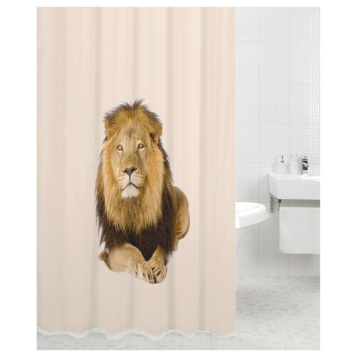 Штора для ванной Bath Plus Lion King 180х200 бежевый мыльница bath plus bath plus mp002xu02qo3