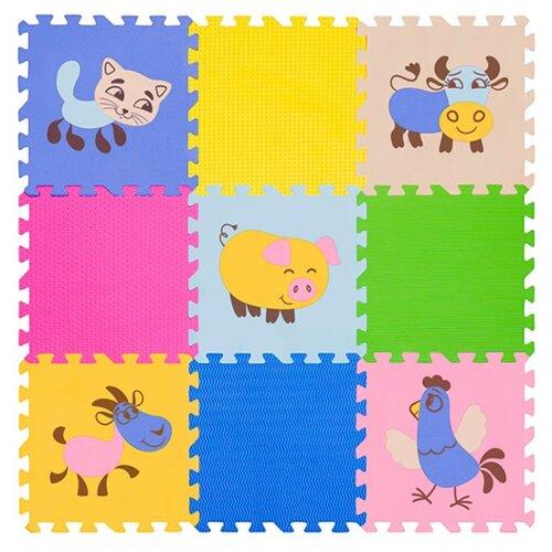 Купить Коврик-пазл Funkids Окружающий мир №4 Домашние животные, толщ. 10 мм (KB-D20B-NT10-04), Игровые коврики