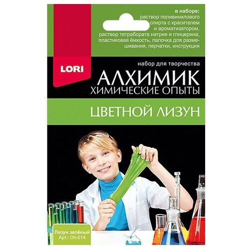 Набор LORI Алхимик. Цветной лизун зеленый
