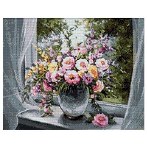 Гранни Набор алмазной вышивки Цветы на подоконнике (ag670) 48x38 см