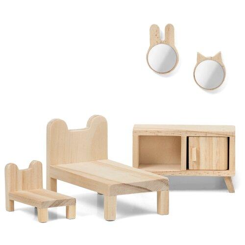 Купить Lundby Набор мебели для кукольного домика Сделай сам Спальня (LB_60906200) натуральный, Мебель для кукол