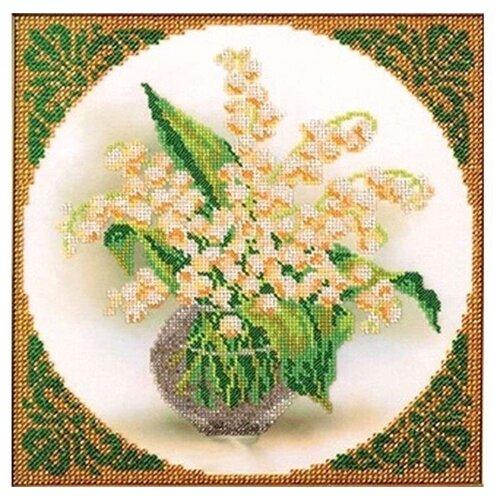 Купить Радуга бисера Набор для вышивания бисером Ландыши 20 x 20 см (В-418), Наборы для вышивания