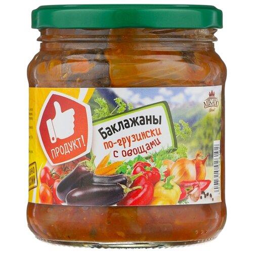 Баклажаны с овощами по-грузински MIKADO стеклянная банка 450 г mikado sms 011 1 0 г