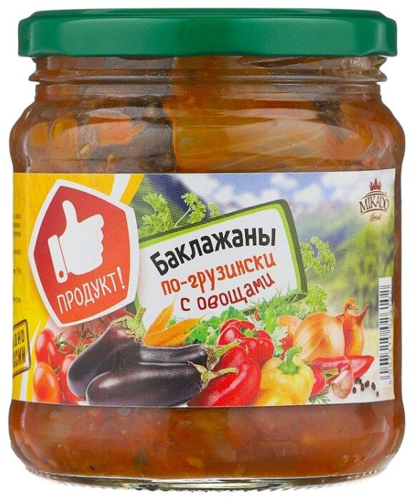 Баклажаны с овощами по-грузински MIKADO стеклянная банка 450 г