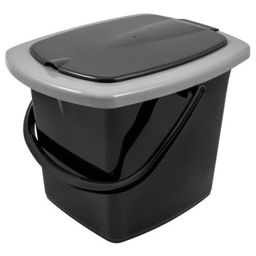 Ведро Plast Team гигиеническое (PT9079) 16 л черный