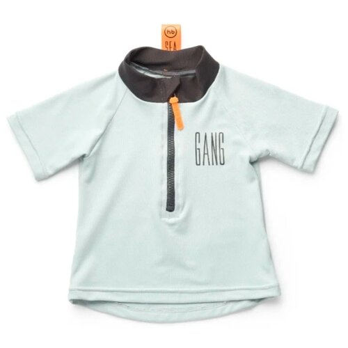 Пляжная футболка Happy Baby размер 80-86, голубой/черный happy baby сумка пляжная happy baby оранжевый