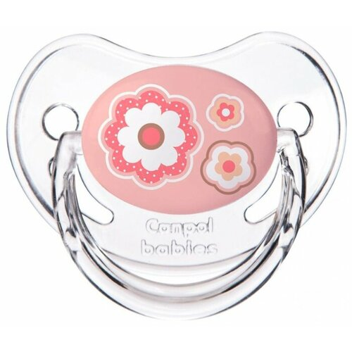 Купить Пустышка силиконовая ортодонтическая Canpol Babies Newborn Baby 0-6 м (1 шт.) розовый, Пустышки и аксессуары