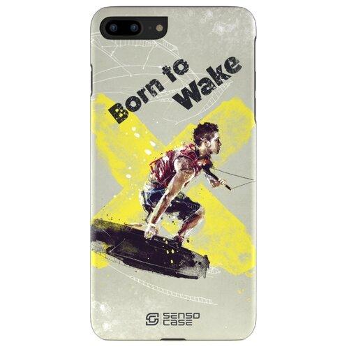 Фото - Чехол-накладка Sensocase 100070 + защитное стекло для Apple iPhone 7 Plus/iPhone 8 Plus вейкбординг чехол накладка sensocase 100080 защитное стекло для apple iphone 6 plus iphone 6s plus лыжный спорт 2