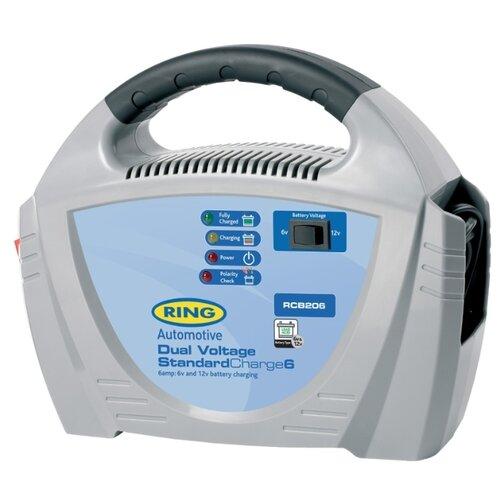 Зарядное устройство RING Automotive RECB206 серый/голубой