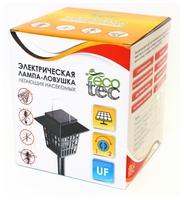 Ловушка ECOTEC (лампа) от летающих насекомых на солнечных батарейках черный