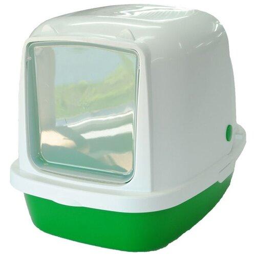 Туалет-домик для кошек Homecat 3519974/3519967/3519950/3519943 53х39х48 см зеленый 1 шт. туалет лоток для кошек homecat 3519509 3519547 3519486 3519561 37х27х8 см зеленый 1 шт