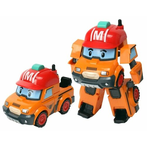 Трансформер Silverlit Robocar Poli Марк оранжевый трансформер silverlit robocar poli рой 10 см красный