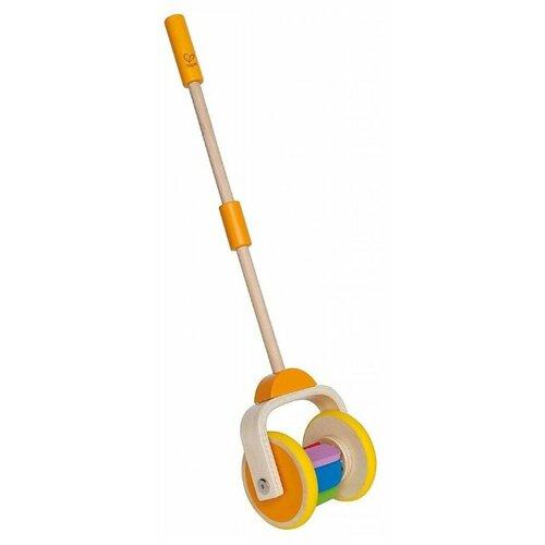 Купить Каталка-игрушка Hape Rainbow (E0344) со звуковыми эффектами бежевый/желтый, Каталки и качалки
