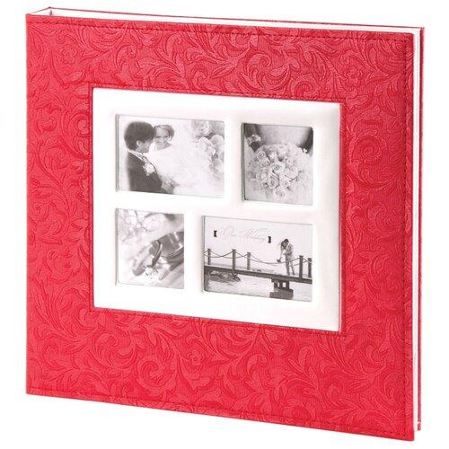 цена на Фотоальбом BRAUBERG Свадебный под фактурную кожу (391128/391129/390691), 240 фото, коралловый