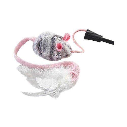 Дразнилка для кошек GiGwi Cat Toys на стеке со звуковым чипом (75111) черный/серый/розовый дразнилка для кошек gigwi feather teaser с ручкой 75429 коричневый черный