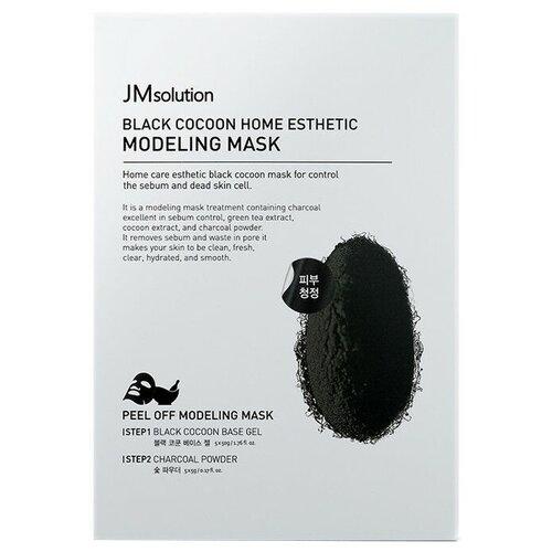 Купить JM Solution моделирующая маска Black Cocoon Home Esthetic Modeling с протеинами шелкопряда и углем, 55 г