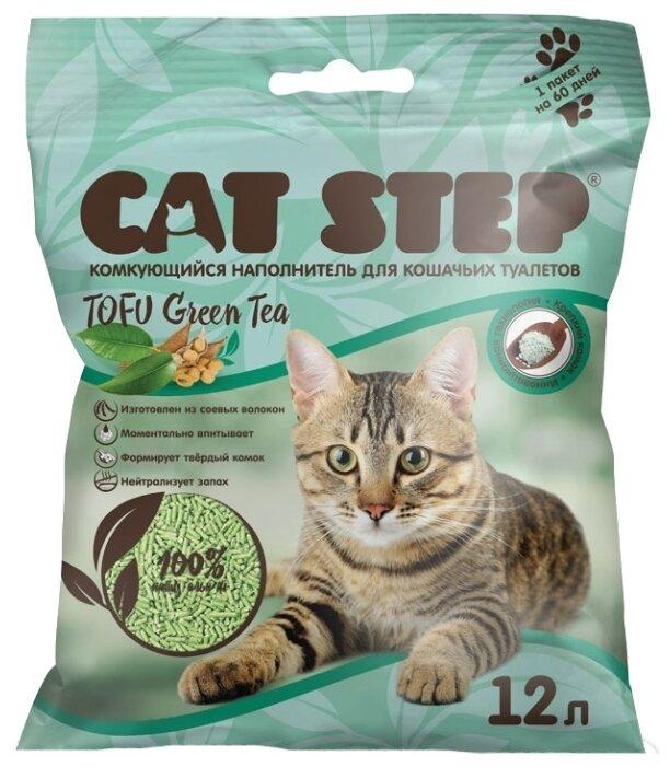 Наполнитель Cat Step Tofu Green Tea растительный комкующийся (12 л)