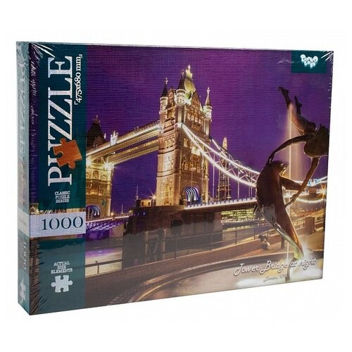 Пазл Danko Toys Tower Bridge at Night (C1000-10-01), 1000 дет. пазл danko toys городская река