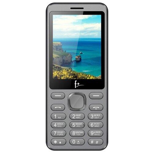 Телефон F+ S286 серый / черный телефон