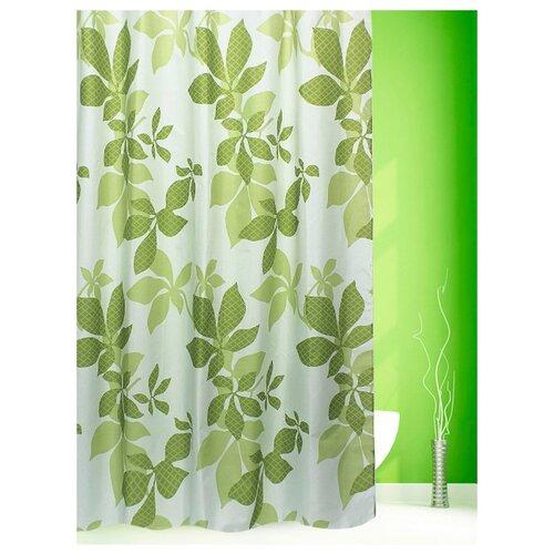 Штора для ванной Bath Plus Chestnut leaf 180х200 бежевый/зеленый