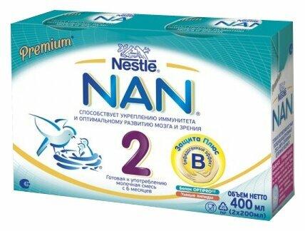 Смесь NAN (Nestlé) 2 готовая к употреблению, с 6 месяцев