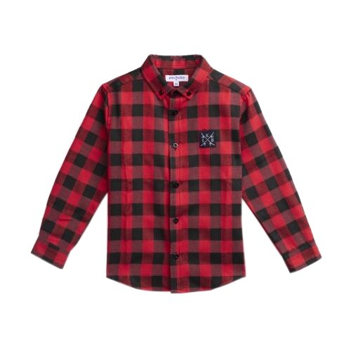 Рубашка playToday размер 104, красный/черныйРубашки<br>