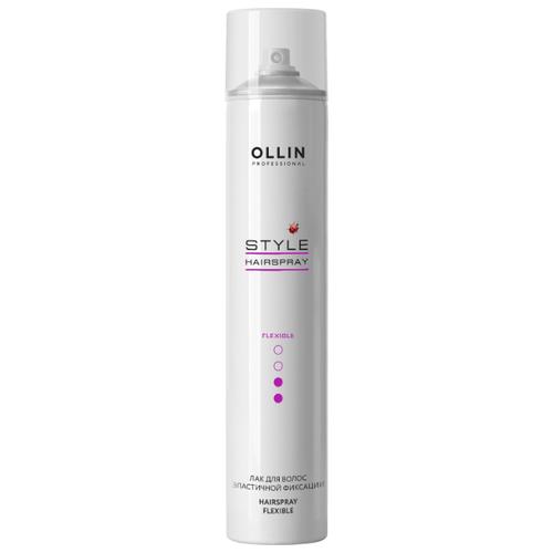 Фото - OLLIN Professional Лак для волос Style Hairspray, средняя фиксация, 450 мл ollin professional лак для волос style hairspray средняя фиксация 450 мл