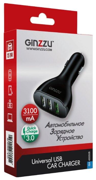 Автомобильная зарядка Ginzzu GA-4503UB