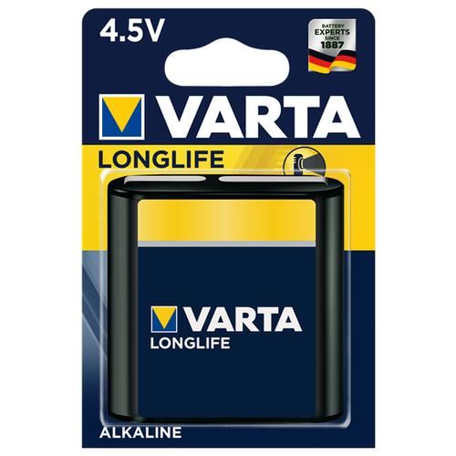 Батарейка VARTA LONGLIFE 3LR12 1 шт блистер батарейка varta energy d lr20 2 шт блистер
