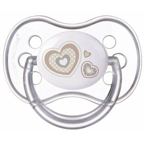 Купить Пустышка силиконовая анатомическая Canpol Babies Newborn Baby 6-18 м (1 шт) белый, Пустышки и аксессуары