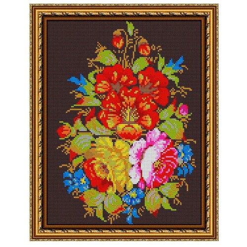 Светлица Набор для вышивания бисером Жостовская композиция 24 x 30 см, бисер Чехия (469П)