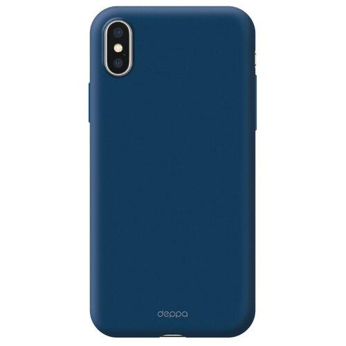 Фото - Чехол-накладка Deppa Air Case для Apple iPhone X/Xs синий чехол deppa air case для apple iphone x xs золотой 83322