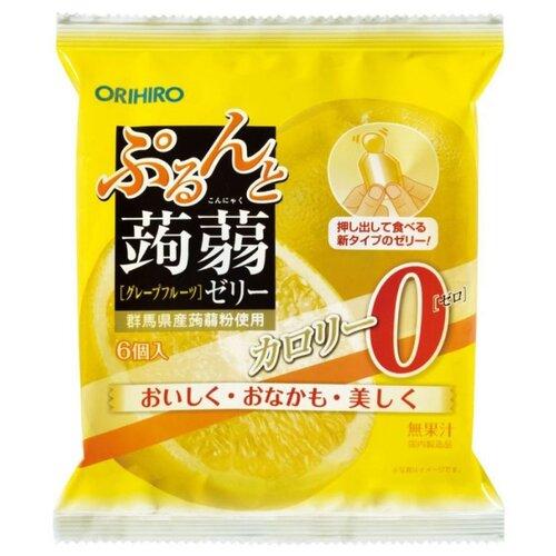 Желе Orihiro из конняку Грейпфрут 0%, 6 шт.