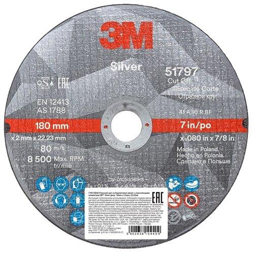 Фото - Диск отрезной 180x2x22.23 3M Silver T41 51797 1 шт. диск отрезной 125x1 6x22 23 3m