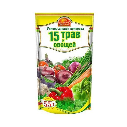 Русский Аппетит Приправа 15 трав и овощей, 55 гСпеции, приправы и пряности<br>