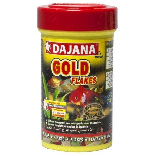 Сухой корм для рыб Dajana Pet Gold Flakes 100 мл 20 г сухой корм для рыб dajana pet malawi flakes 1000 мл 200 г