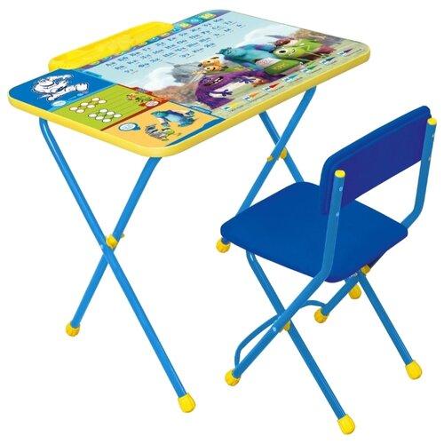 Купить Комплект Nika Университет монстров (Д2У) 60x45 см синий/желтый, Парты и столы