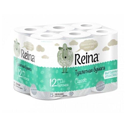 Купить Туалетная бумага Reina Classic белая двухслойная