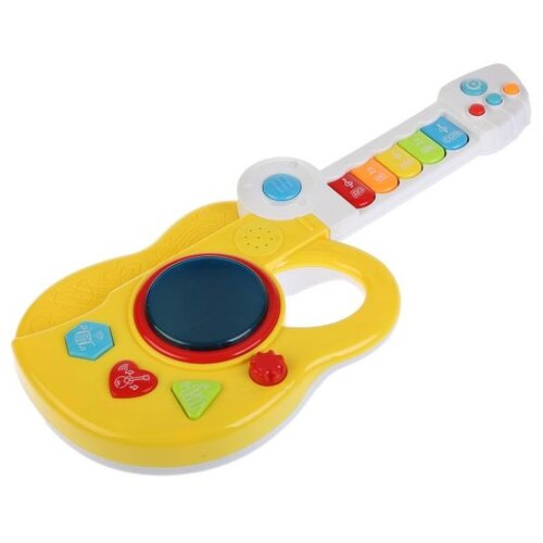 Купить Умка гитара B1103605-R желтый, Детские музыкальные инструменты