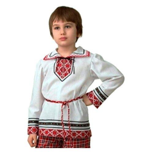 Купить Рубашка Батик Jeanees вышиванка (5601-1), белый/красный, размер 146, Карнавальные костюмы