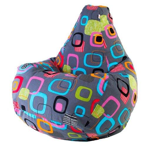 DreamBag Кресло-мешок Мумбо XL серый жаккард