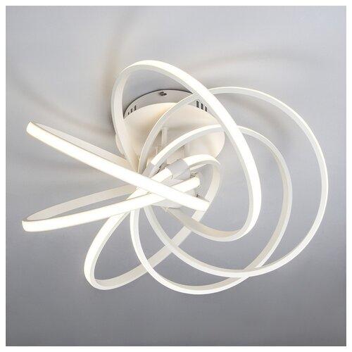 люстра светодиодная eurosvet energy 90044 3 22 м² цвет хром Светодиодный Eurosvet Energy 90044/6 белый, LED, 108 Вт