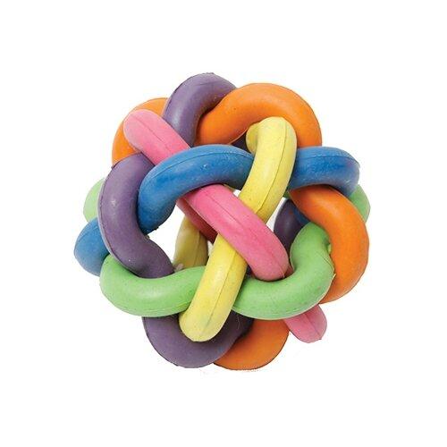 Игрушка для собак КАСКАД Молекула с бубенчиком (27799326) синий/оранжевый/желтыйИгрушки для кошек и собак<br>