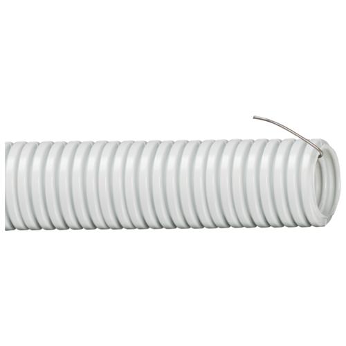 Труба гофрированная ПВХ с зондом IEK 20 мм x 10 м серый серый