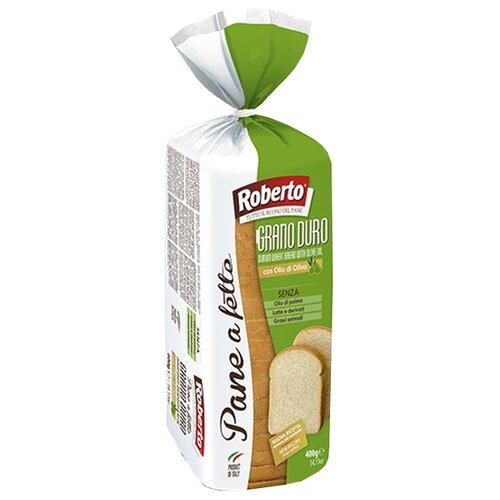 Roberto Хлеб Pane a fette al Grano duro пшеничный тостовый в нарезке 400 г