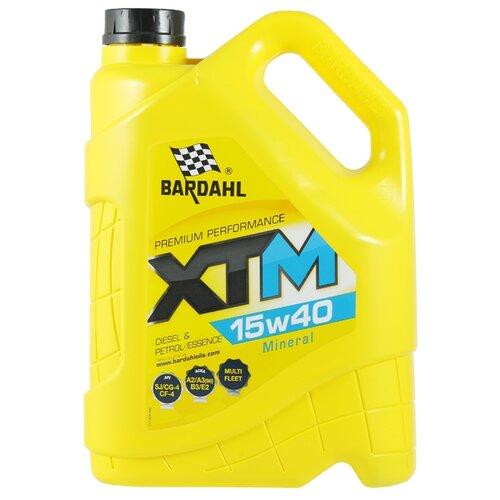 Минеральное моторное масло Bardahl XTM 15W40 5 л минеральное моторное масло srs multi rekord top 15w40 1 л