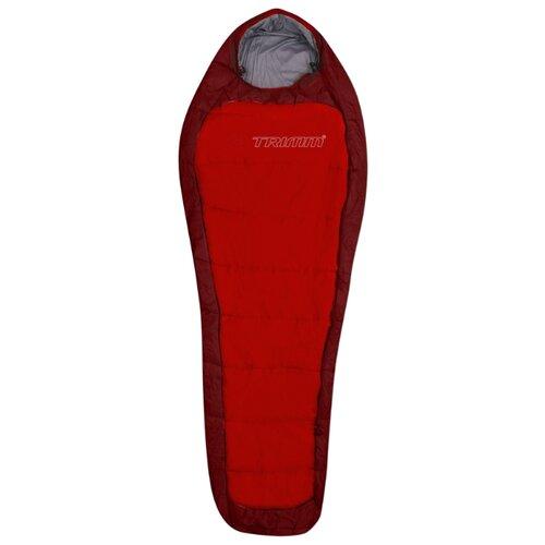 Спальный мешок TRIMM Impact 195 red/dark red с левой стороны